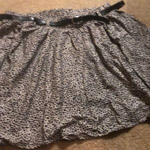 Torrid animal print skirt